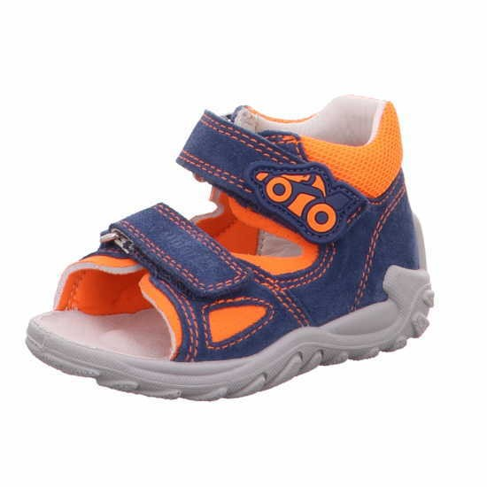 Superfit 8 09011 81 Flow Jungen Lauflernsandale Blau - Orange