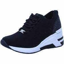 Tom Tailor 1191504 Damen Wedge-Sneakers Schwarz