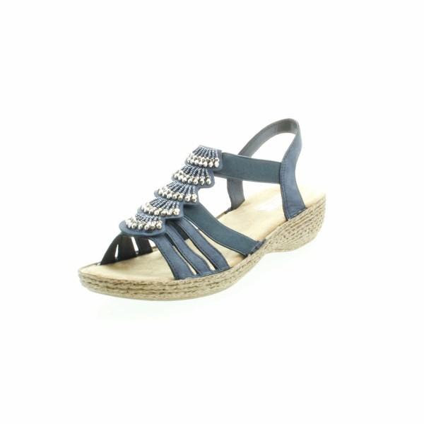 Rieker 65859 14 Damen Komfort Sandale Regina Blau