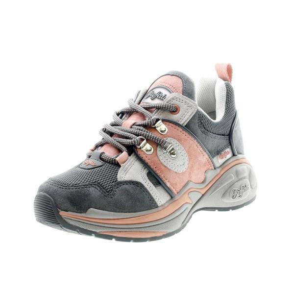 Buffalo 16301 861 Cray Damen Plateau Schnür Sneaker Grau