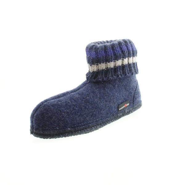 Haflinger 631051 0 72 Unisex Kinder Hütenschuh Paul Jeansblau