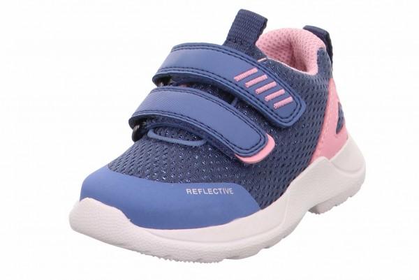 Superfit 0 609207 8100 Rush Mädchen Sneaker Jeansblau-Rosa