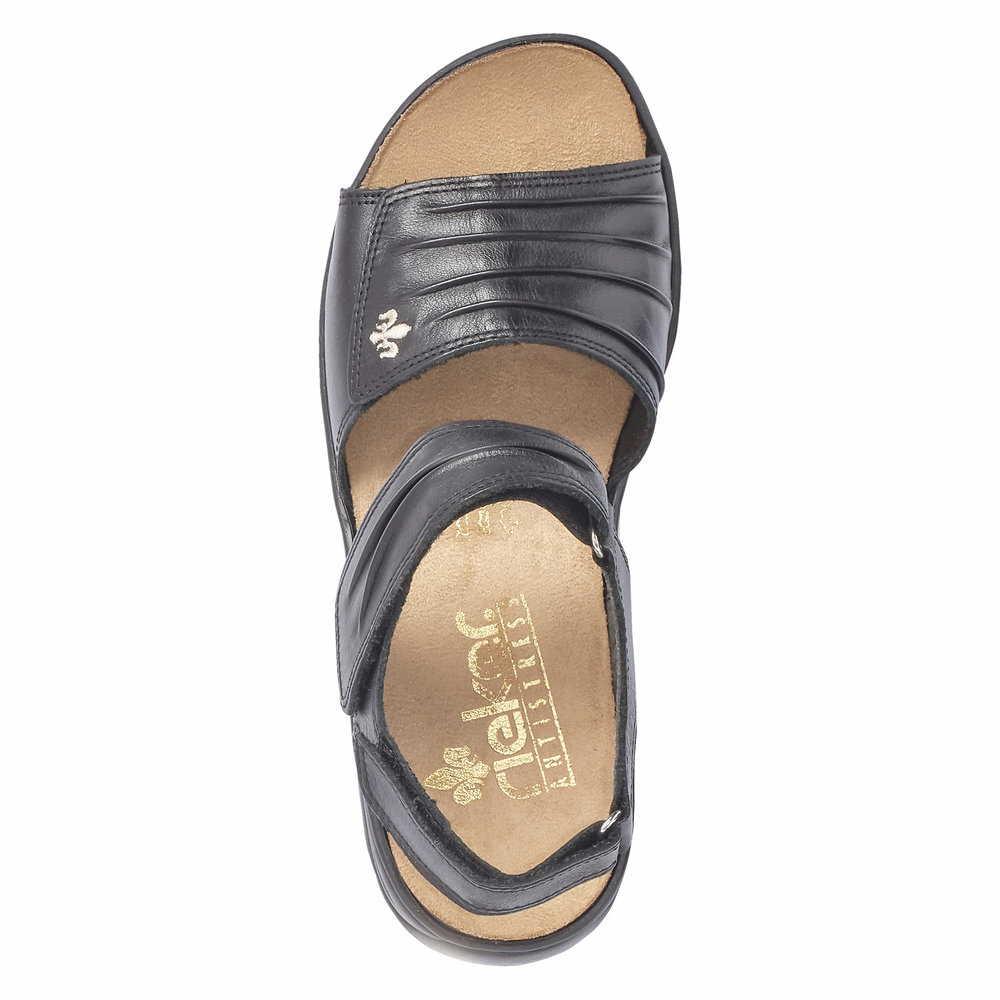 Rhcqdxts 01 Sandalen Schwarzsportliche Sandale 64560 Rieker Damen iPZukX