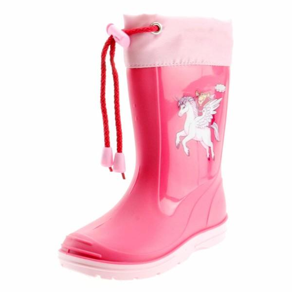 Beck 498 Einhorn Kinder Mädchen Gummistiefel Pink